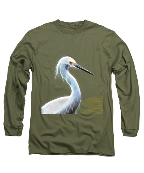 Snow Egret Long Sleeve T-Shirt by Shane Bechler