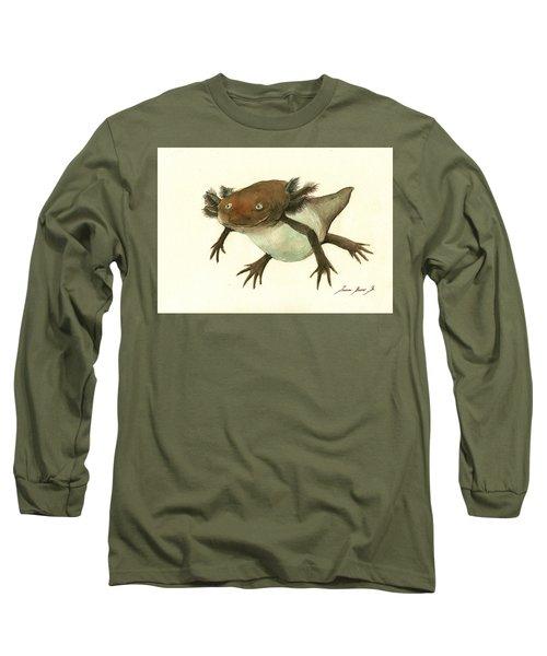 Axolotl Long Sleeve T-Shirt by Juan Bosco