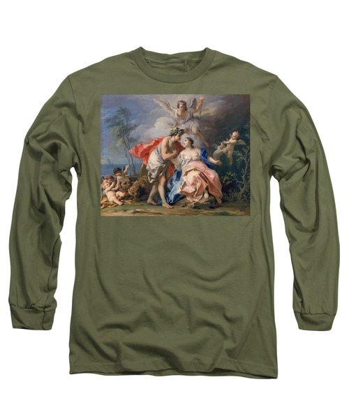 Bacchus And Ariadne Long Sleeve T-Shirt by Jacopo Amigoni