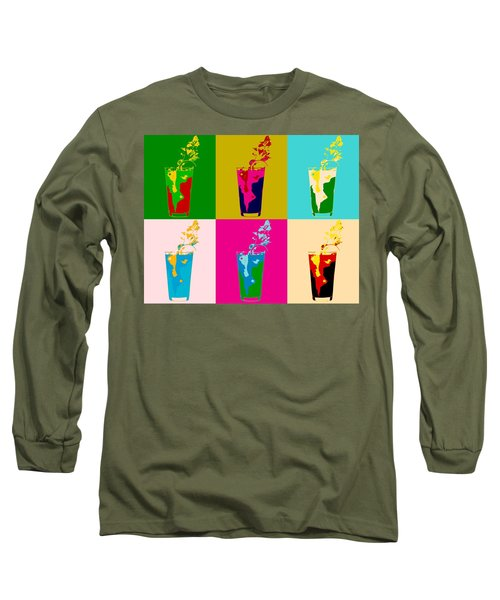 Bloody Mary Pop Art Panels Long Sleeve T-Shirt by Dan Sproul