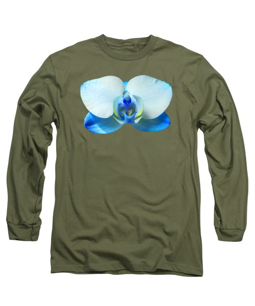 Blue Orchid 1 Long Sleeve T-Shirt by Scott Carruthers