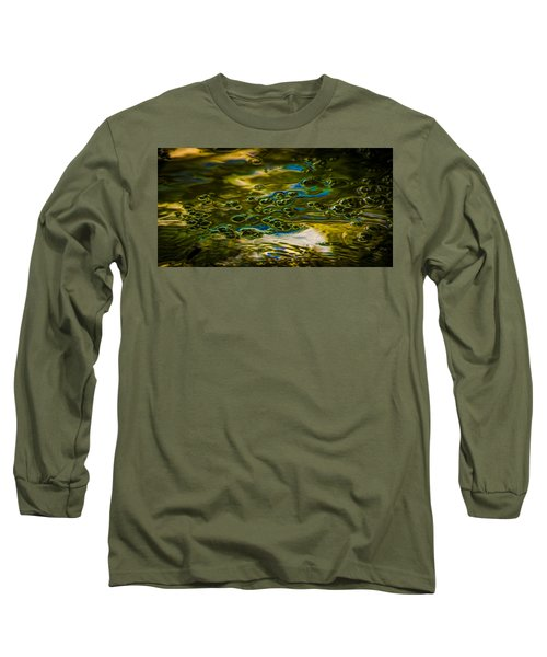 Bubbles And Reflections Long Sleeve T-Shirt by Marvin Spates