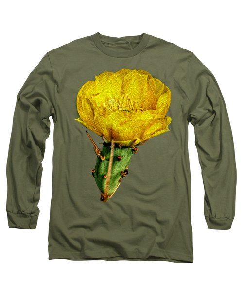 Cactus Flower Op26 Long Sleeve T-Shirt by Mark Myhaver