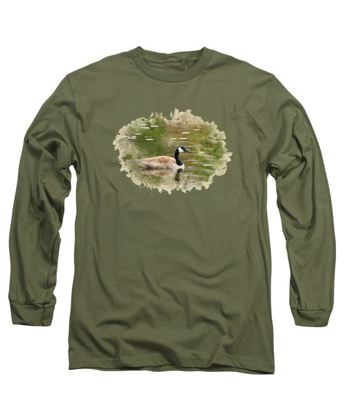 Canada Goose Watercolor Art Long Sleeve T-Shirt by Christina Rollo