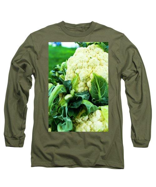 Cauliflower Head Long Sleeve T-Shirt by Teri Virbickis