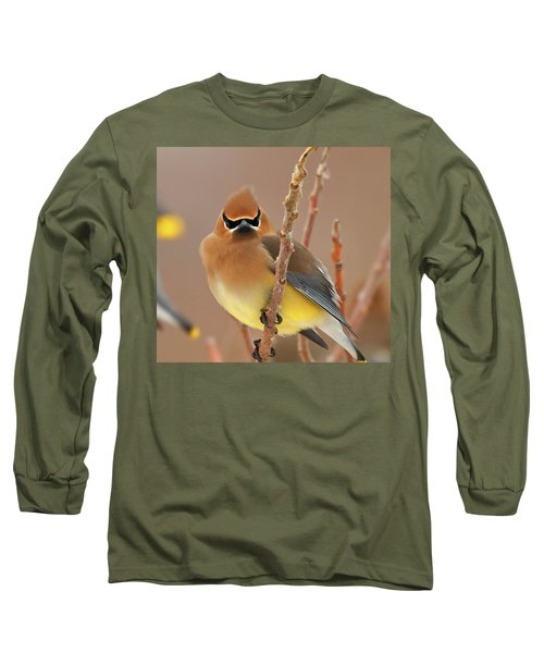 Cedar Wax Wing Long Sleeve T-Shirt by Carl Shaw