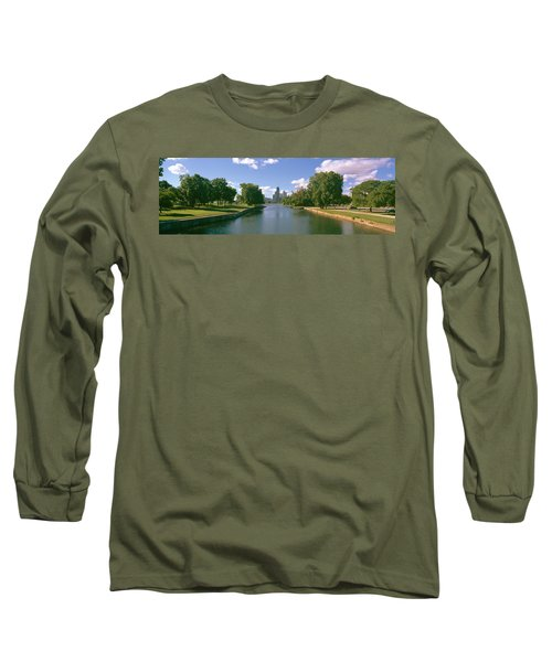 Chicago From Lincoln Park, Illinois Long Sleeve T-Shirt by Panoramic Images