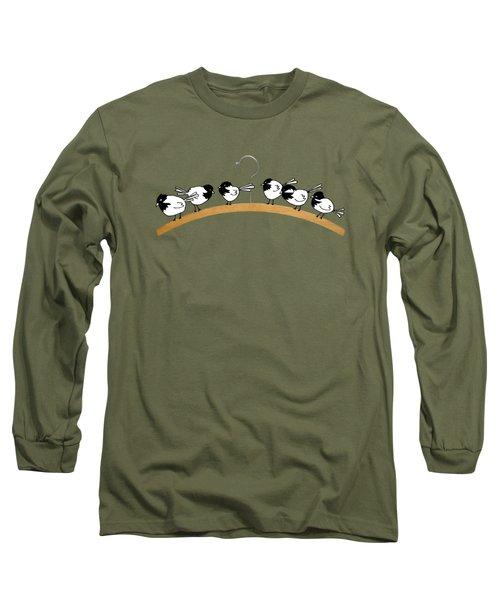 Chickadees Long Sleeve T-Shirt by Matt Mawson