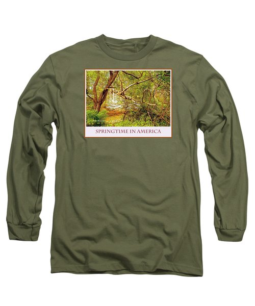 Long Sleeve T-Shirt featuring the photograph Dogwood Tree In The Forest Spring by A Gurmankin