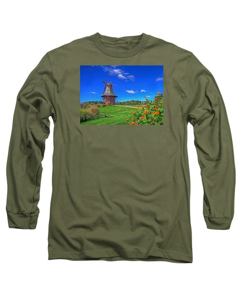 Long Sleeve T-Shirt featuring the photograph Dutch Windmill by Rodney Campbell