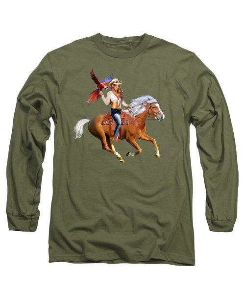 Enchanted Jungle Rider Long Sleeve T-Shirt by Glenn Holbrook