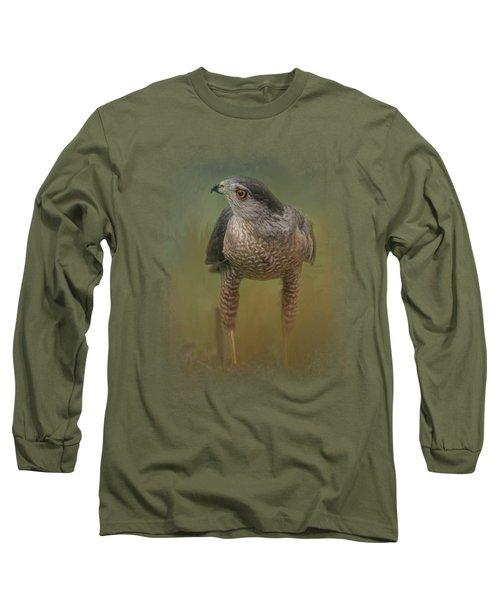Evening Hawk Long Sleeve T-Shirt by Jai Johnson
