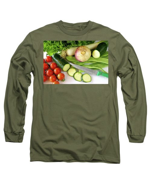 Fresh Vegetables Long Sleeve T-Shirt by Carlos Caetano