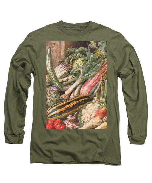 Garden Vegetables Long Sleeve T-Shirt by Louis Fairfax Muckley