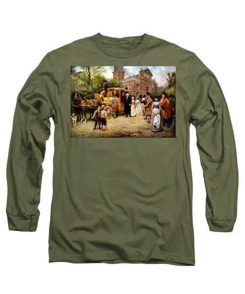 George Washington Arriving At Christ Church Long Sleeve T-Shirt by War Is Hell Store