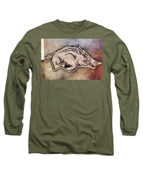 Go Hogs Go  Long Sleeve T-Shirt by Dawn Bearden
