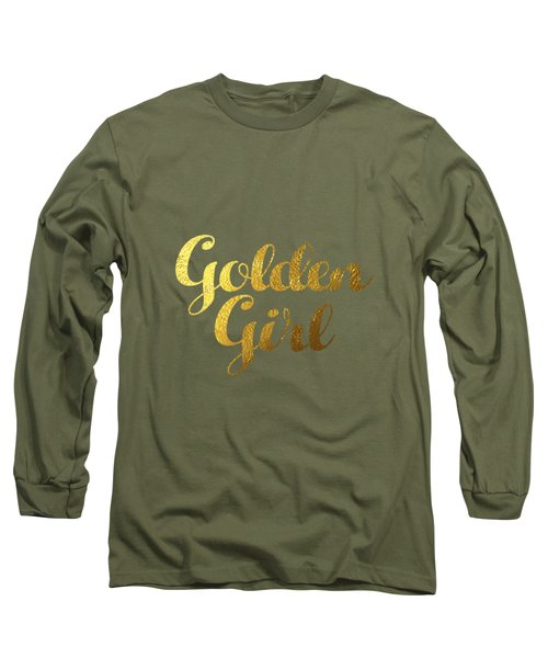 Golden Girl Typography Long Sleeve T-Shirt by Bekare Creative
