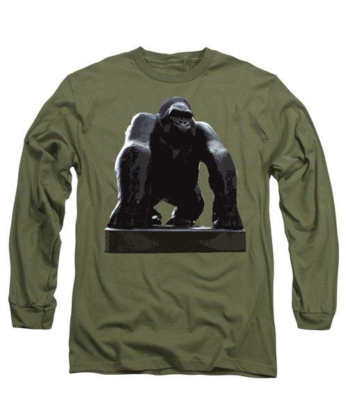 Gorilla Art Long Sleeve T-Shirt by Francesca Mackenney