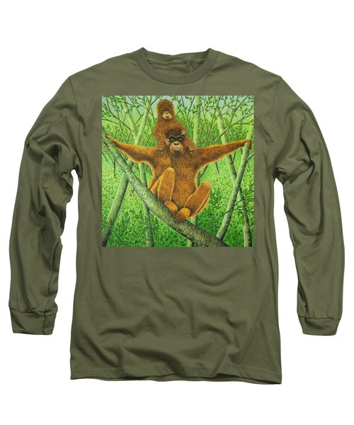 Hnag On In There Long Sleeve T-Shirt by Pat Scott