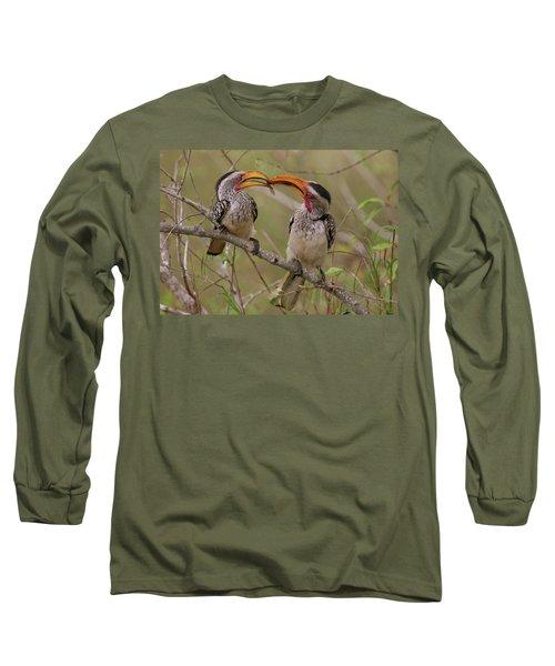 Hornbill Love Long Sleeve T-Shirt by Bruce J Robinson