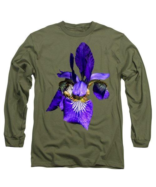 Iris Versicolor Long Sleeve T-Shirt by Mark Myhaver