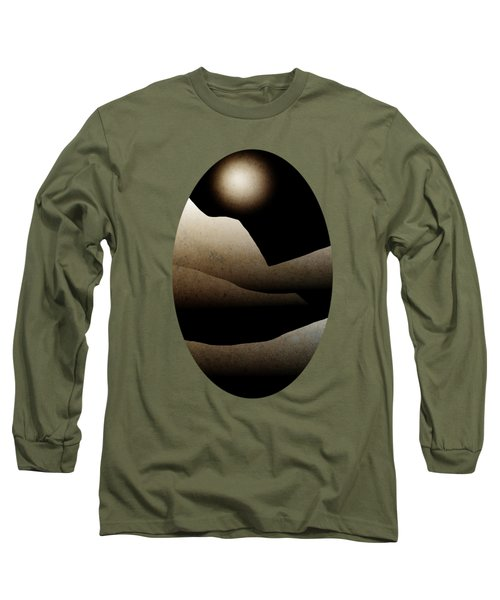 Mountain Moonlight Landscape Art Long Sleeve T-Shirt by Christina Rollo