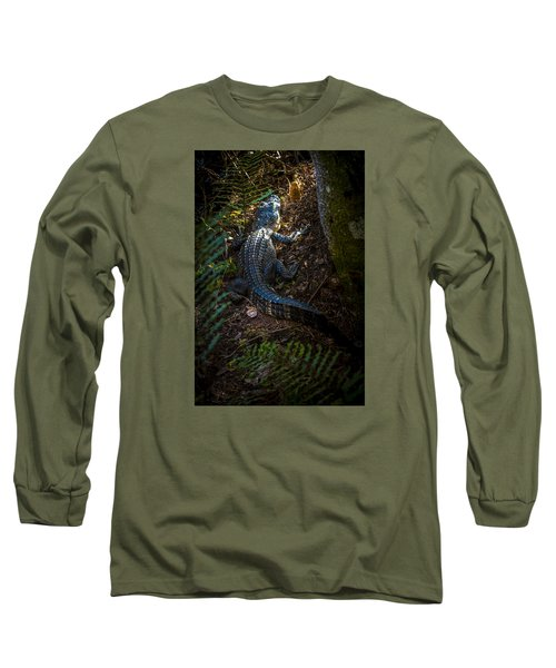 Mr Alley Gator Long Sleeve T-Shirt by Marvin Spates
