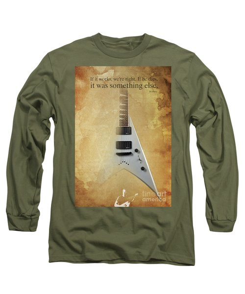 Dr House Inspirational Quote And Electric Guitar Brown Vintage Poster For Musicians And Trekkers Long Sleeve T-Shirt by Pablo Franchi