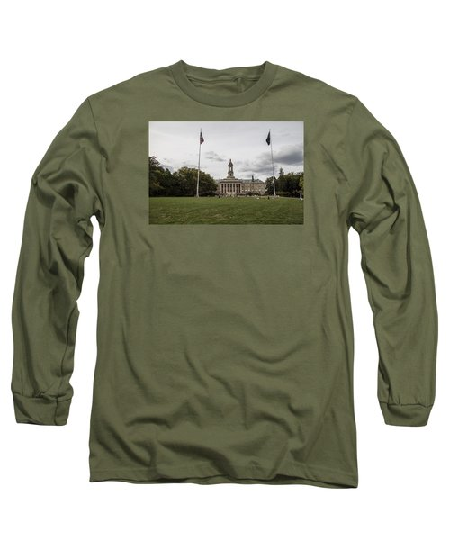 Old Main Penn State Wide Shot  Long Sleeve T-Shirt by John McGraw
