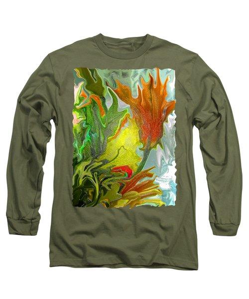 Orange Tulip Long Sleeve T-Shirt by Kathy Moll