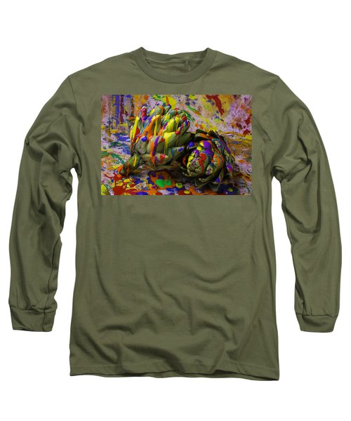 Painted Artichokes Long Sleeve T-Shirt by Garry Gay