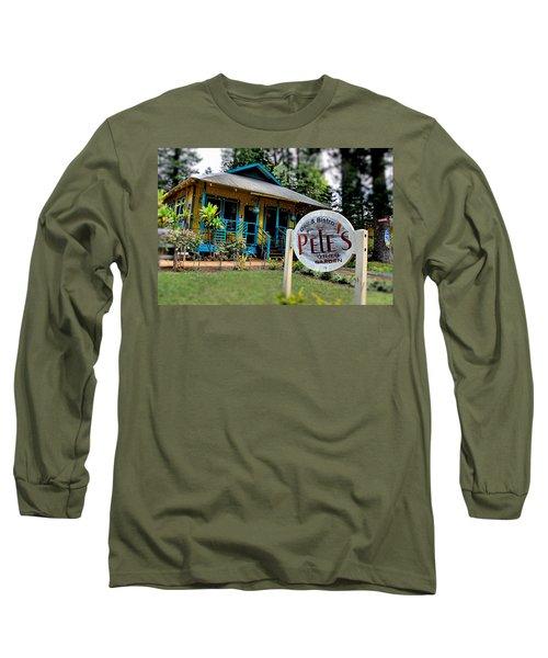 Pele's Lanai Style Long Sleeve T-Shirt by DJ Florek