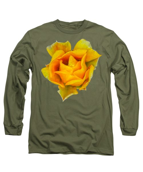 Prickly Pear Flower H11 Long Sleeve T-Shirt by Mark Myhaver