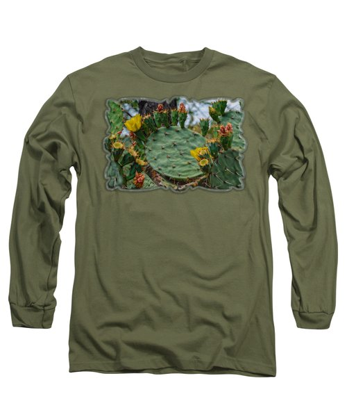 Prickly Pear Flowers H35 Long Sleeve T-Shirt by Mark Myhaver