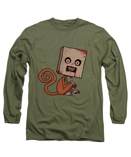 Psycho Sack Monkey Long Sleeve T-Shirt by John Schwegel