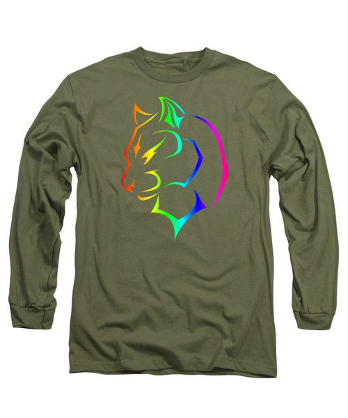 Rainbow Panther Long Sleeve T-Shirt by Frederick Holiday