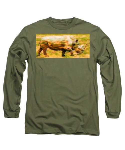 Rhinocerace Long Sleeve T-Shirt by Caito Junqueira