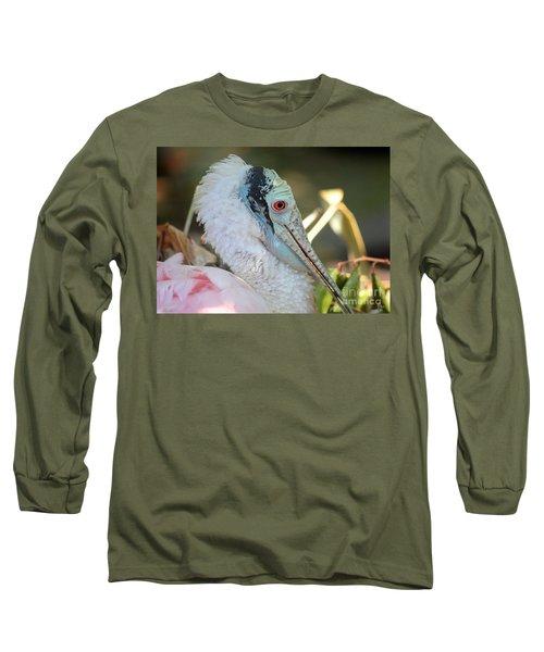 Roseate Spoonbill Profile Long Sleeve T-Shirt by Carol Groenen