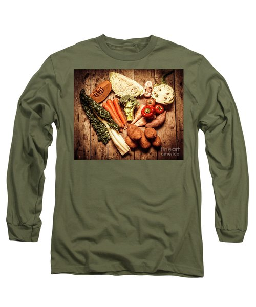 Rustic Style Country Vegetables Long Sleeve T-Shirt by Jorgo Photography - Wall Art Gallery