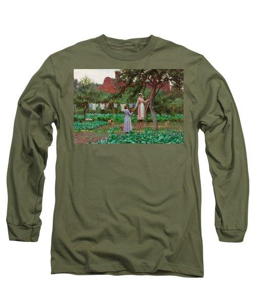 September Long Sleeve T-Shirt by Edmund Blair Leighton