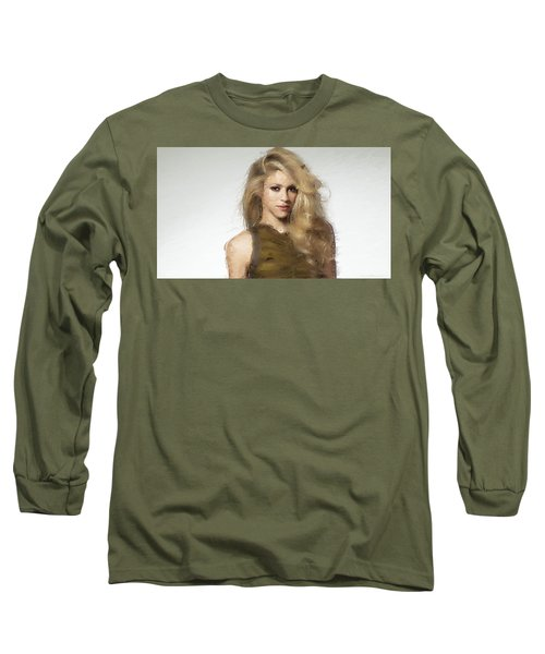 Shakira Long Sleeve T-Shirt by Iguanna Espinosa
