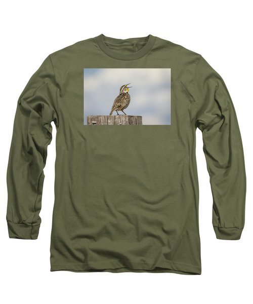 Singing A Song Long Sleeve T-Shirt by Thomas Young