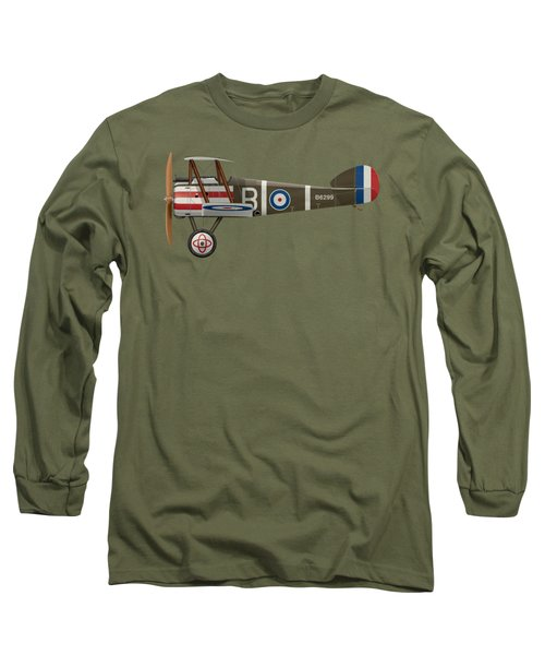 Sopwith Camel - B6299 - Side Profile View Long Sleeve T-Shirt by Ed Jackson