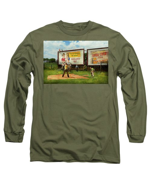 Sport - Baseball - America's Past Time 1943 Long Sleeve T-Shirt by Mike Savad