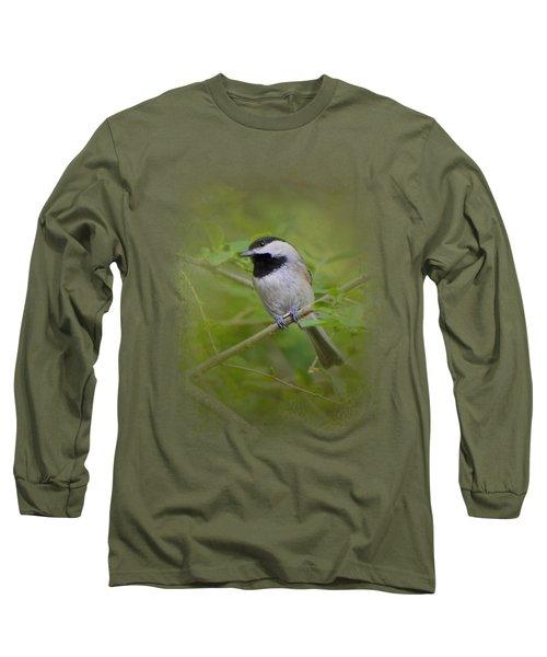 Spring Chickadee Long Sleeve T-Shirt by Jai Johnson