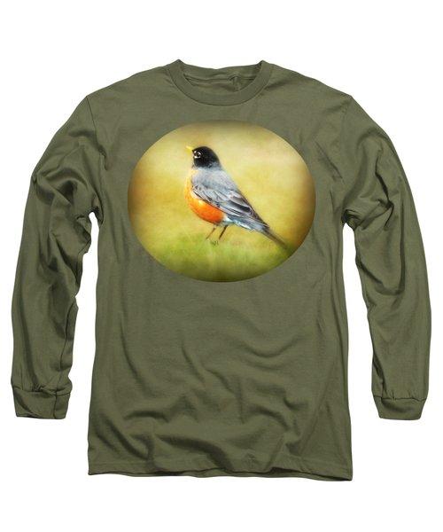 Spring Robin Long Sleeve T-Shirt by Anita Faye
