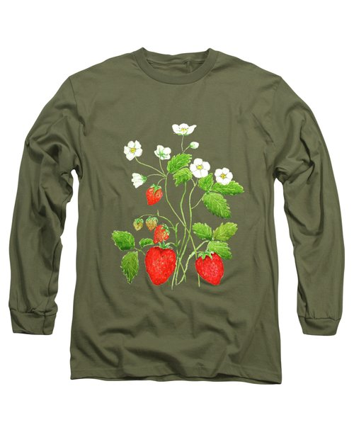 Strawberry  Long Sleeve T-Shirt by Color Color
