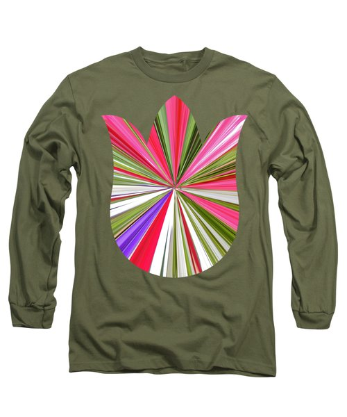 Striped Tulip Long Sleeve T-Shirt by Marian Bell