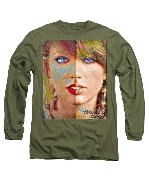 Taylor Swift - Blended Perfection Long Sleeve T-Shirt by Robert Radmore