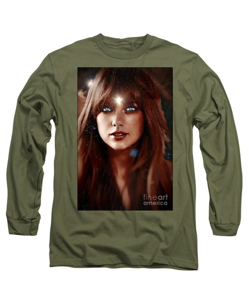 Taylor Swift - Goddess Long Sleeve T-Shirt by Robert Radmore